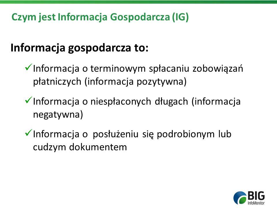 Czym jest Informacja Gospodarcza (IG)