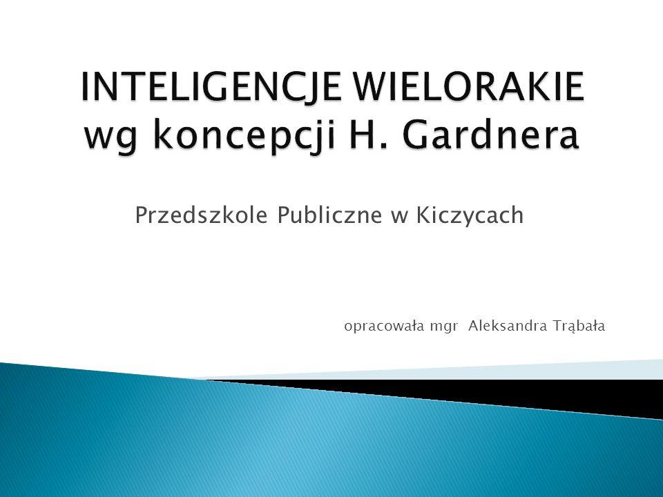 INTELIGENCJE WIELORAKIE wg koncepcji H. Gardnera