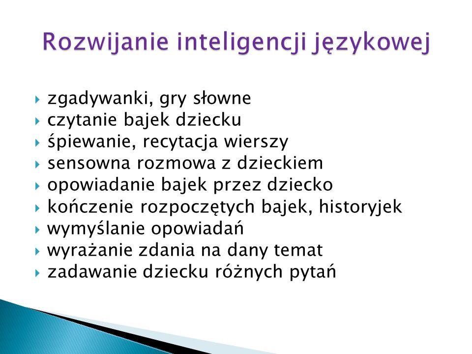 Rozwijanie inteligencji językowej