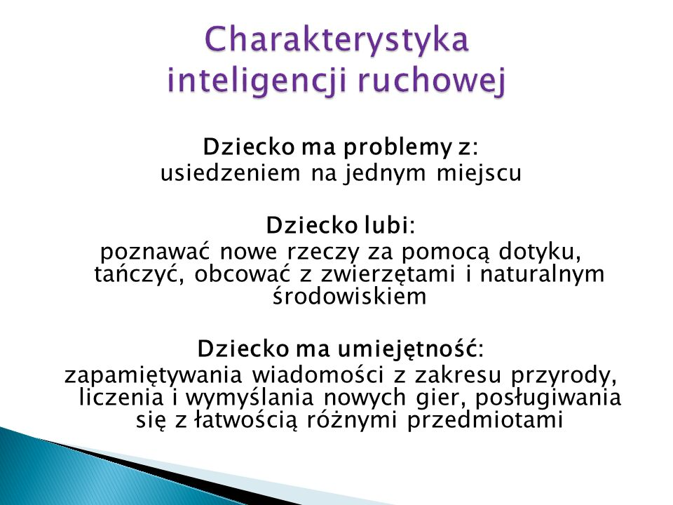 Charakterystyka inteligencji ruchowej