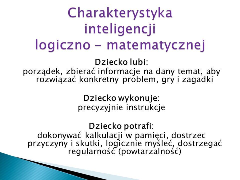 Charakterystyka inteligencji logiczno - matematycznej