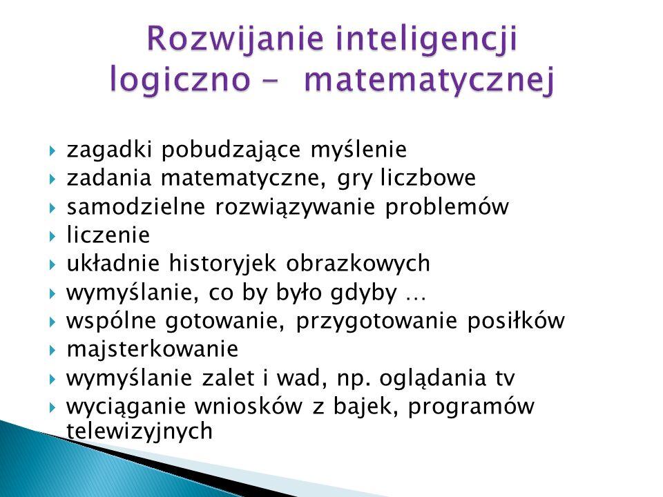 Rozwijanie inteligencji logiczno - matematycznej