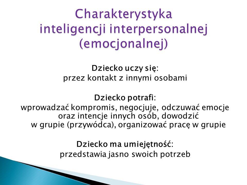 Charakterystyka inteligencji interpersonalnej (emocjonalnej)