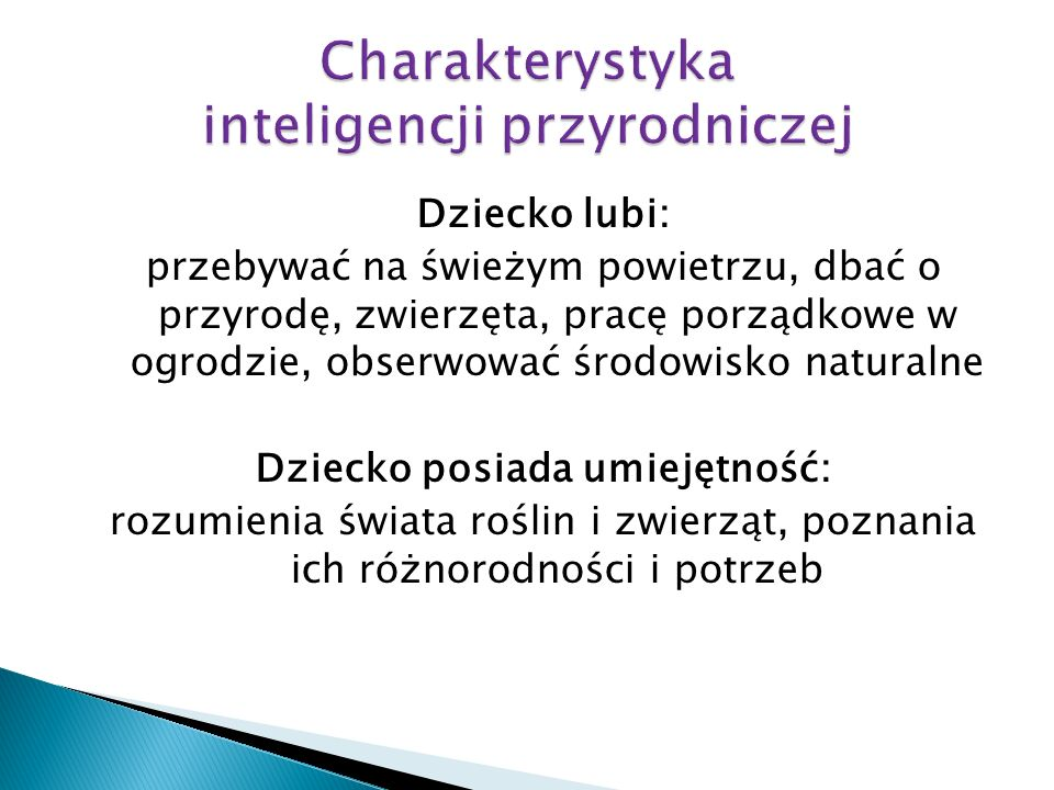 Charakterystyka inteligencji przyrodniczej