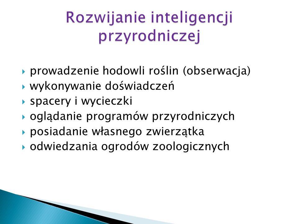 Rozwijanie inteligencji przyrodniczej