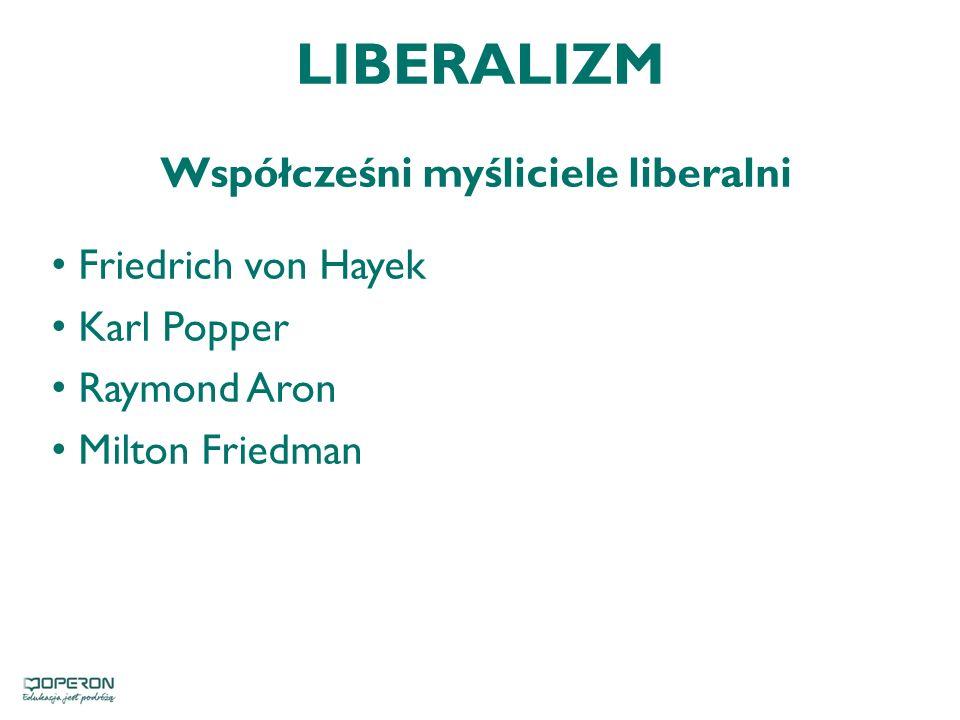 Współcześni myśliciele liberalni