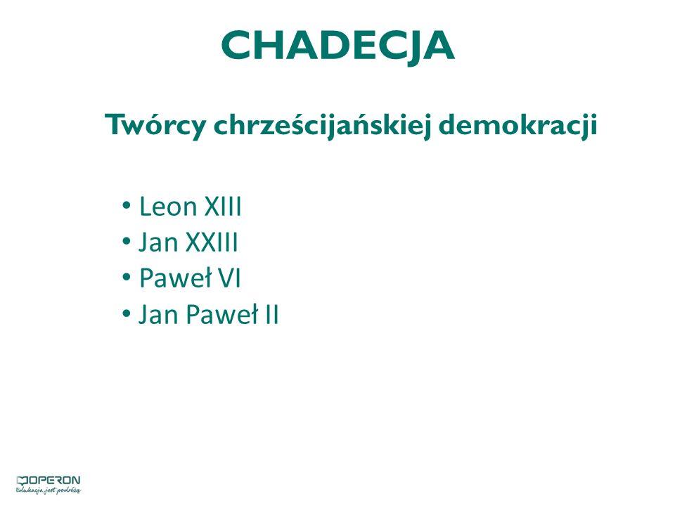 Twórcy chrześcijańskiej demokracji