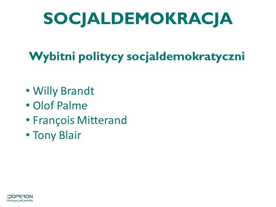 Wybitni politycy socjaldemokratyczni
