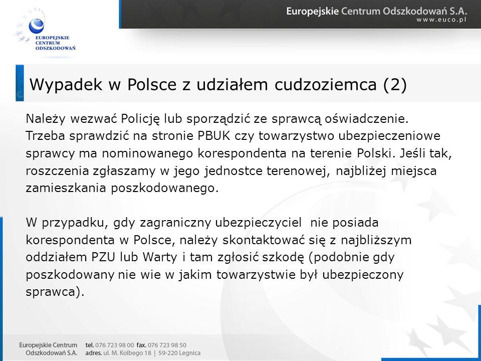 Wypadek w Polsce z udziałem cudzoziemca (2)