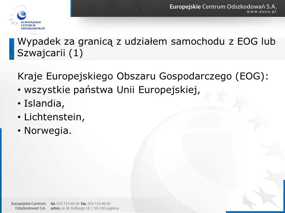 Wypadek za granicą z udziałem samochodu z EOG lub Szwajcarii (1)