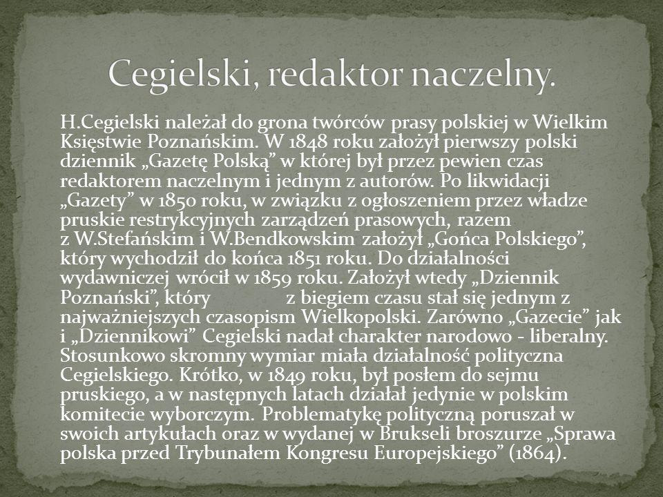 Cegielski, redaktor naczelny.