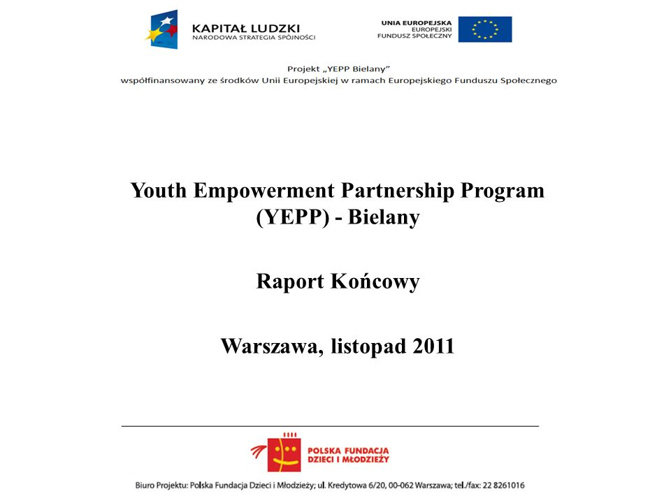 Youth Empowerment Partnership Program (YEPP) - Bielany
