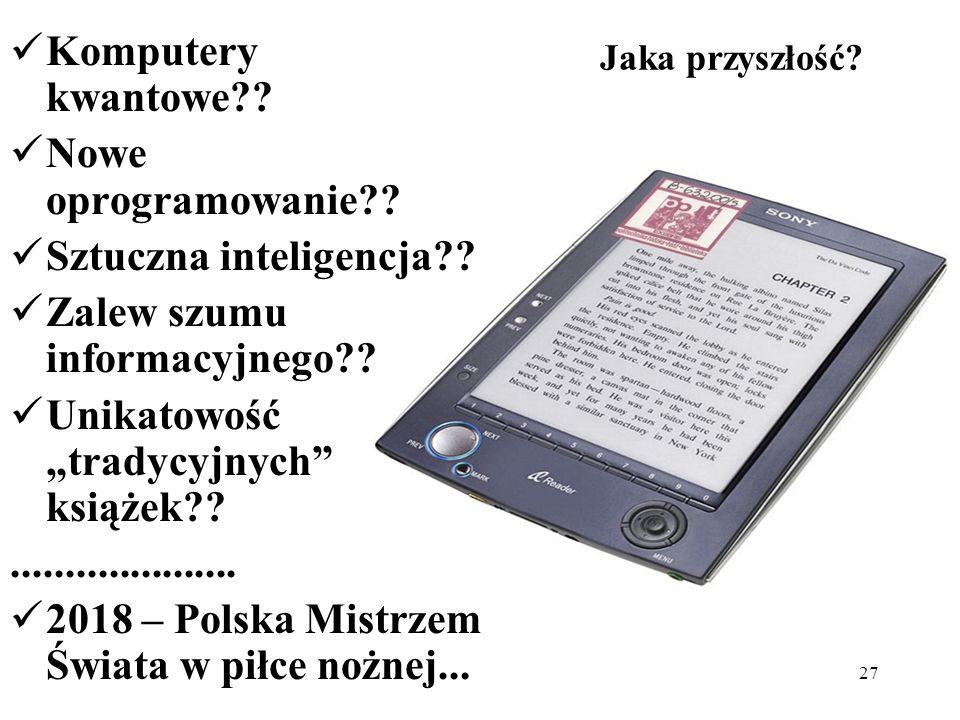 Sztuczna inteligencja Zalew szumu informacyjnego