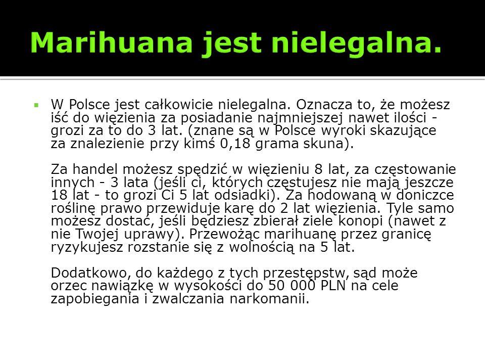 Marihuana jest nielegalna.