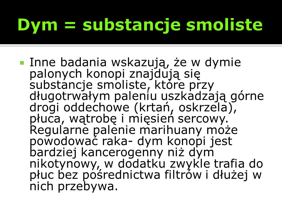 Dym = substancje smoliste