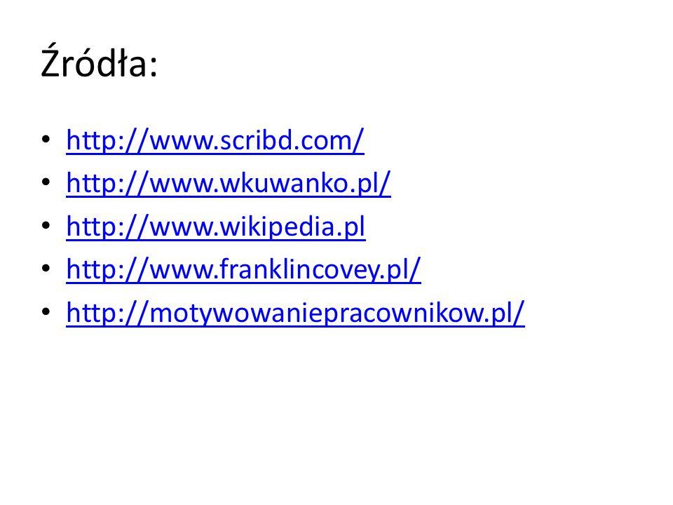 Źródła: http://www.scribd.com/ http://www.wkuwanko.pl/