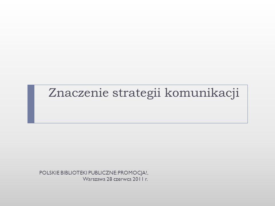 Znaczenie strategii komunikacji