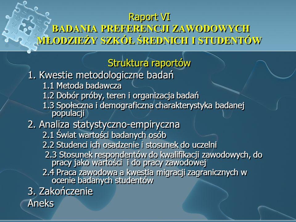 1. Kwestie metodologiczne badań