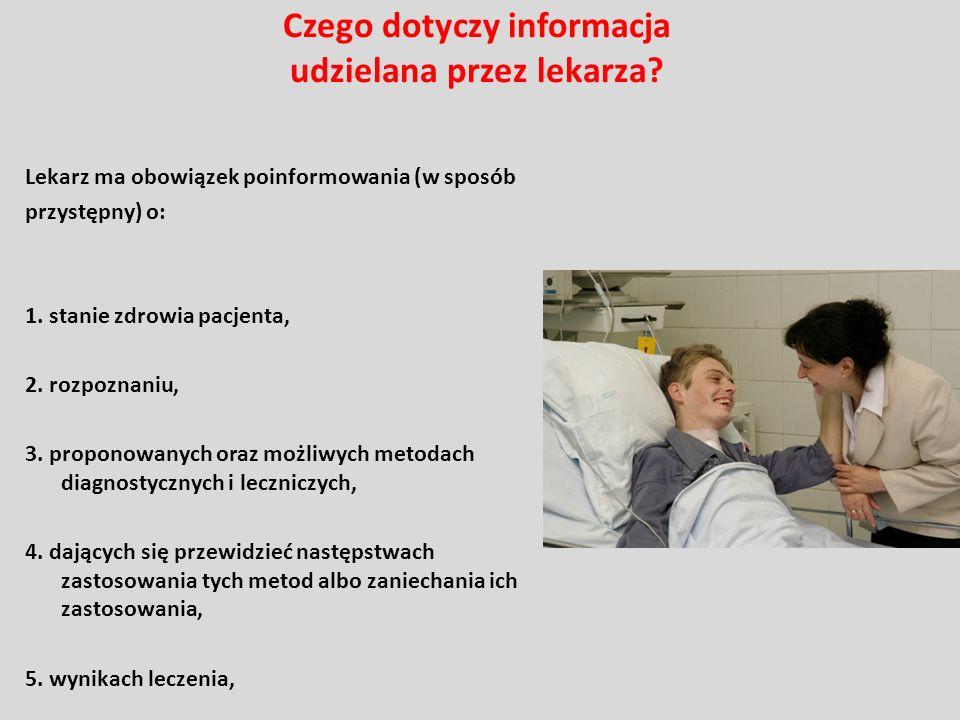Czego dotyczy informacja udzielana przez lekarza