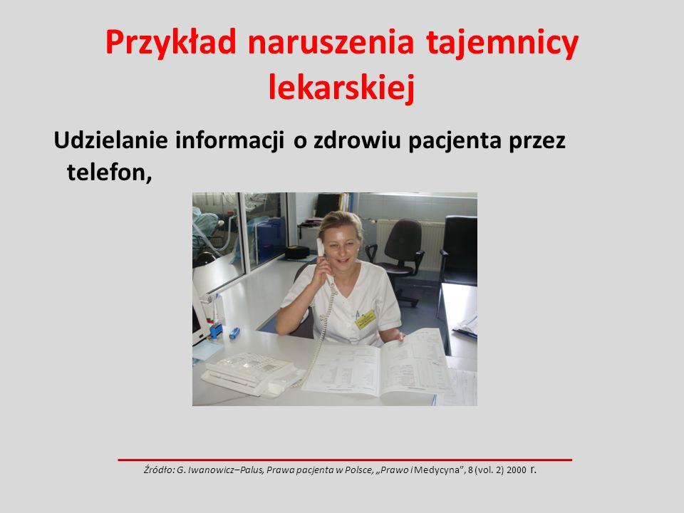 Przykład naruszenia tajemnicy lekarskiej