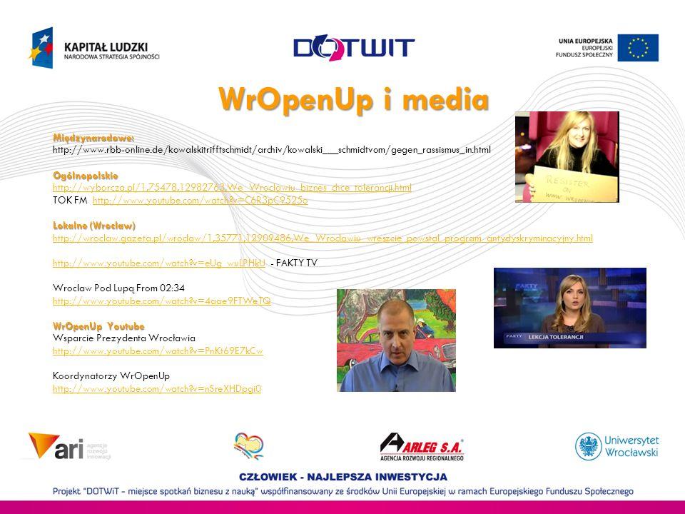 WrOpenUp i media Międzynarodowe: