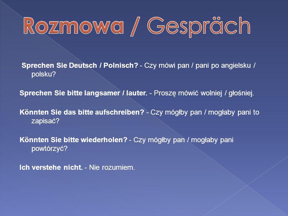 Rozmowa / Gespräch