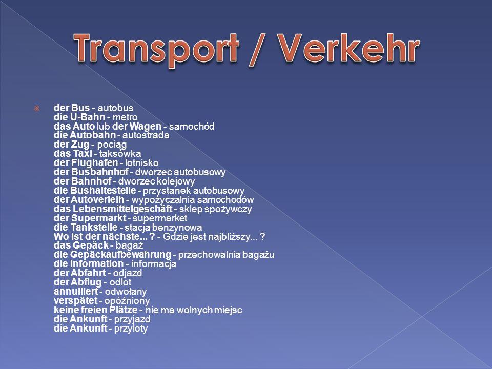 Transport / Verkehr