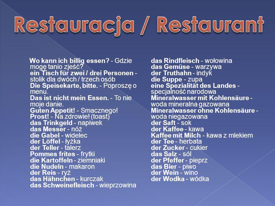 Restauracja / Restaurant