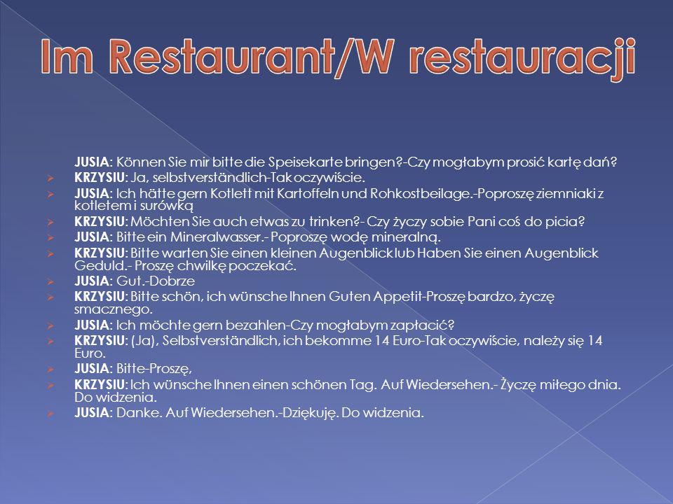 Im Restaurant/W restauracji