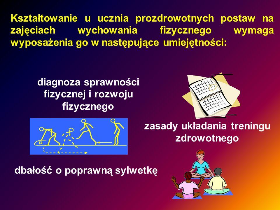 diagnoza sprawności fizycznej i rozwoju fizycznego