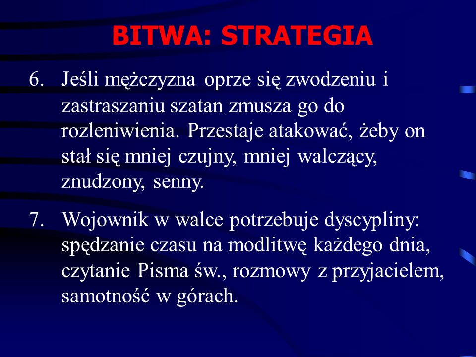 BITWA: STRATEGIA