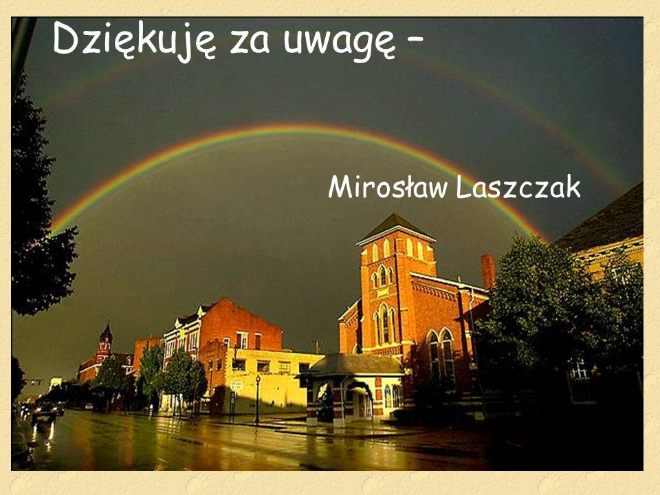 Dziękuję za uwagę – Mirosław Laszczak
