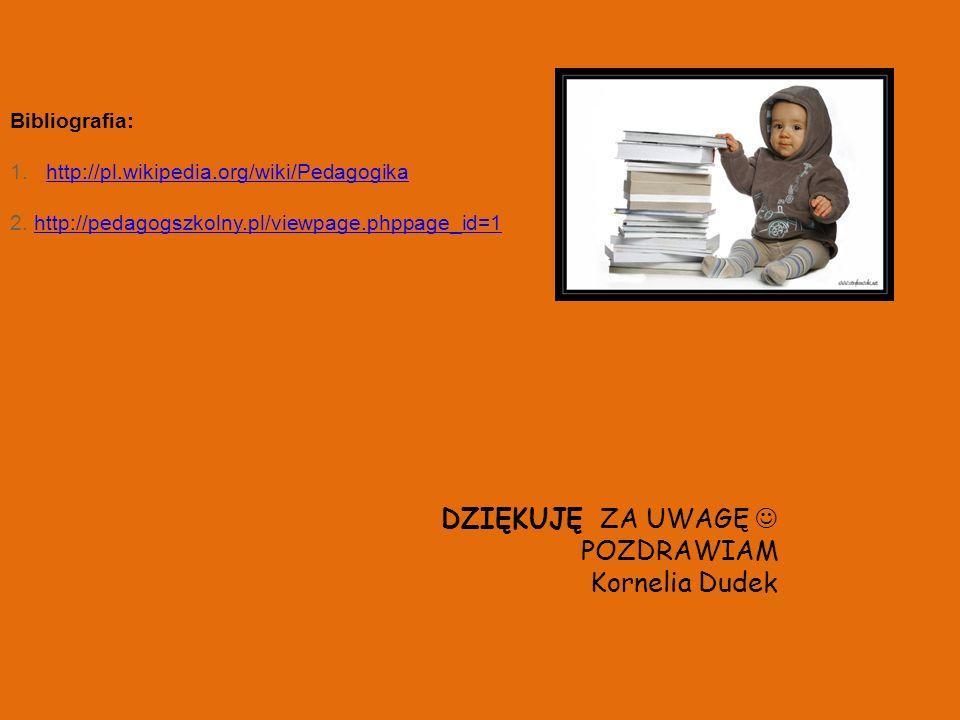 DZIĘKUJĘ ZA UWAGĘ  POZDRAWIAM Kornelia Dudek Bibliografia: