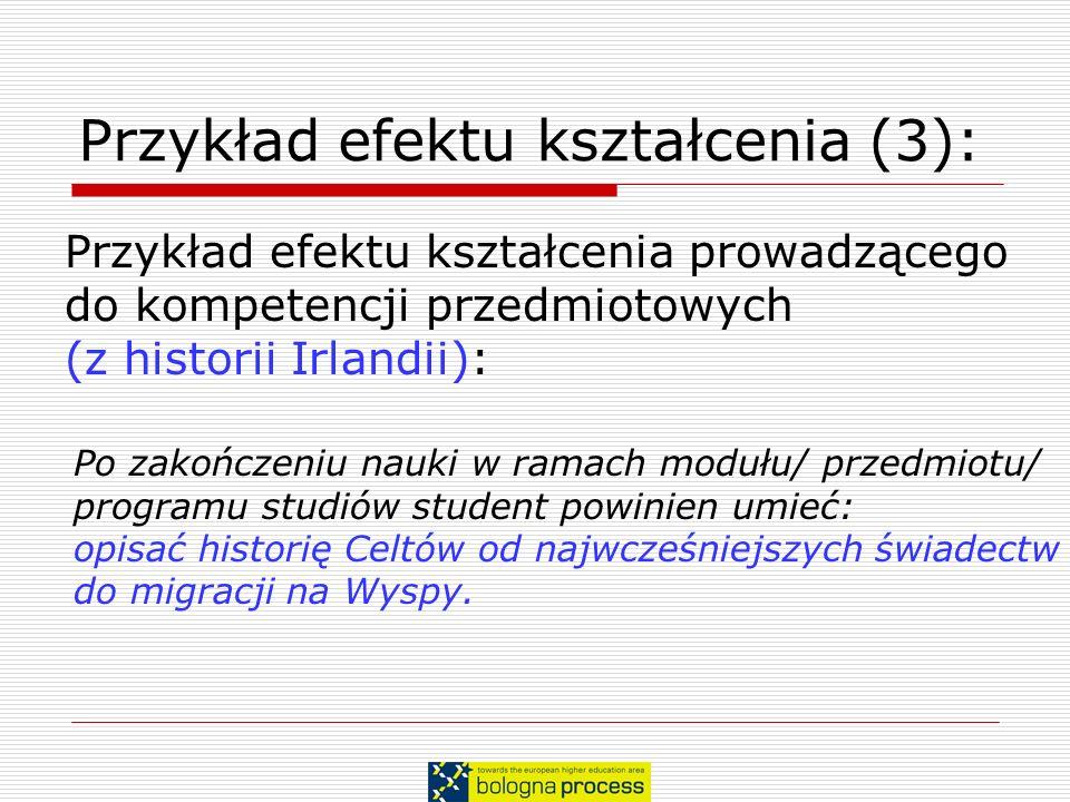 Przykład efektu kształcenia (3):