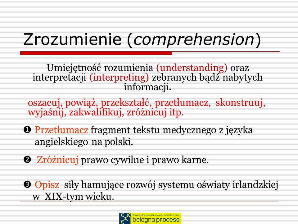 Zrozumienie (comprehension)