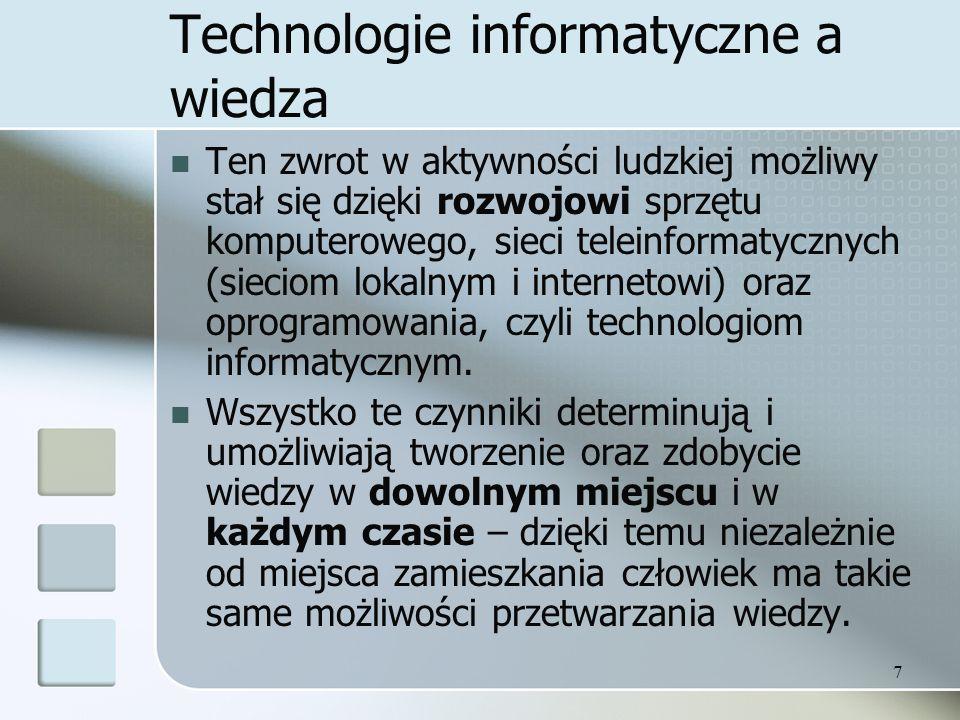Technologie informatyczne a wiedza
