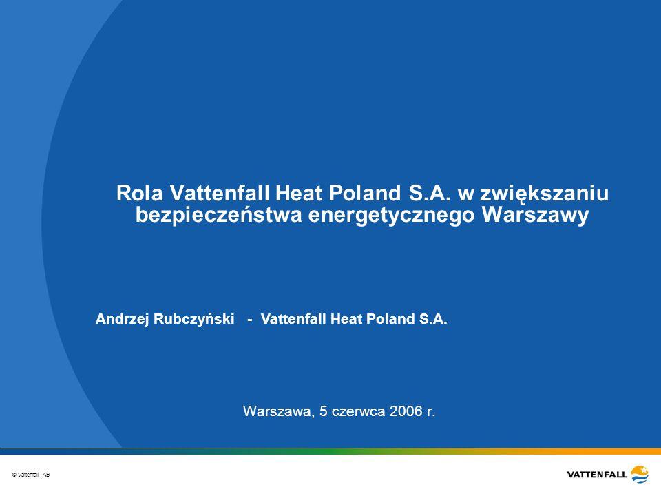 Rola Vattenfall Heat Poland S. A