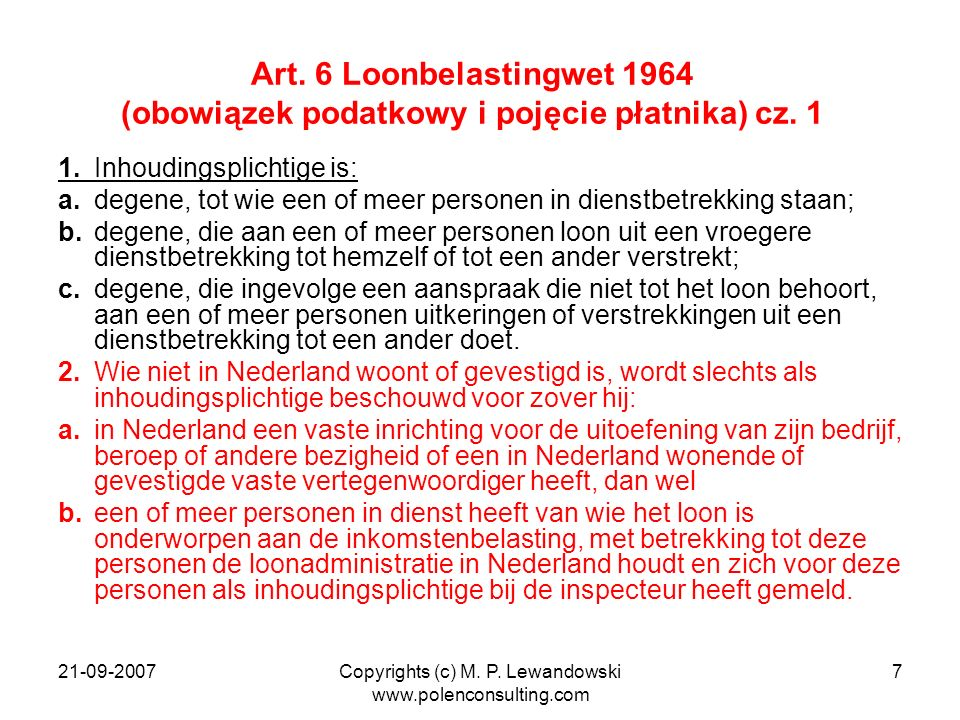 Copyrights (c) M. P. Lewandowski www.polenconsulting.com