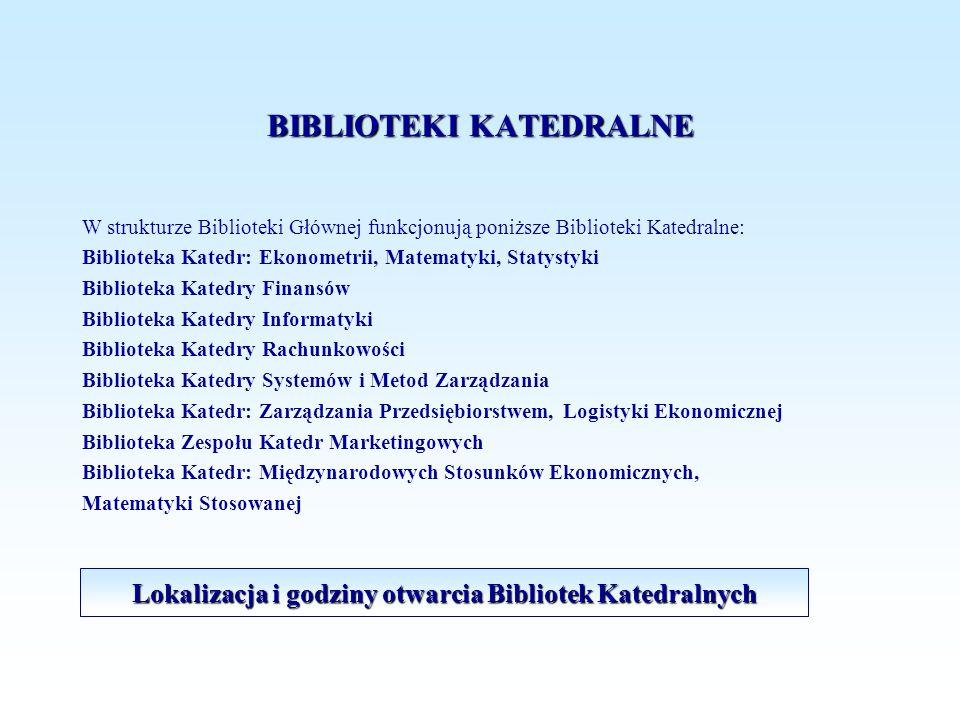 BIBLIOTEKI KATEDRALNE