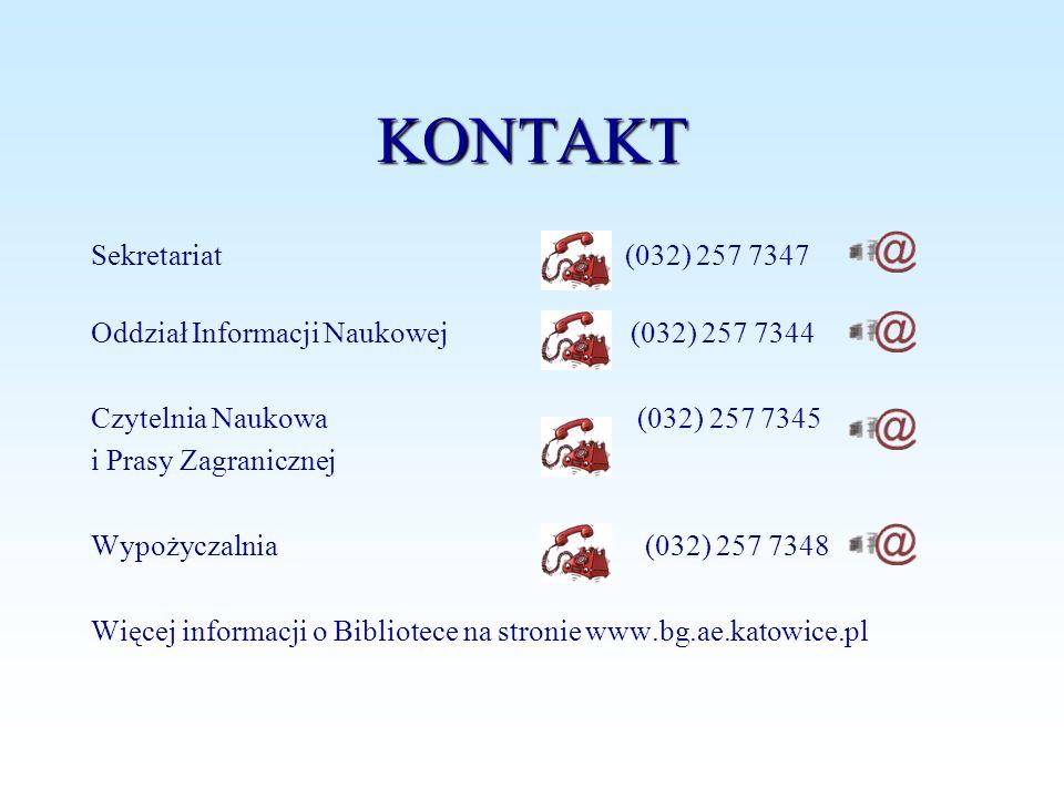 KONTAKT Sekretariat (032) 257 7347