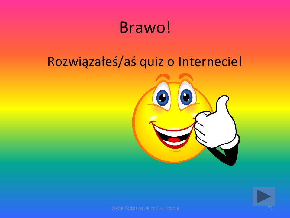 Brawo! Rozwiązałeś/aś quiz o Internecie!