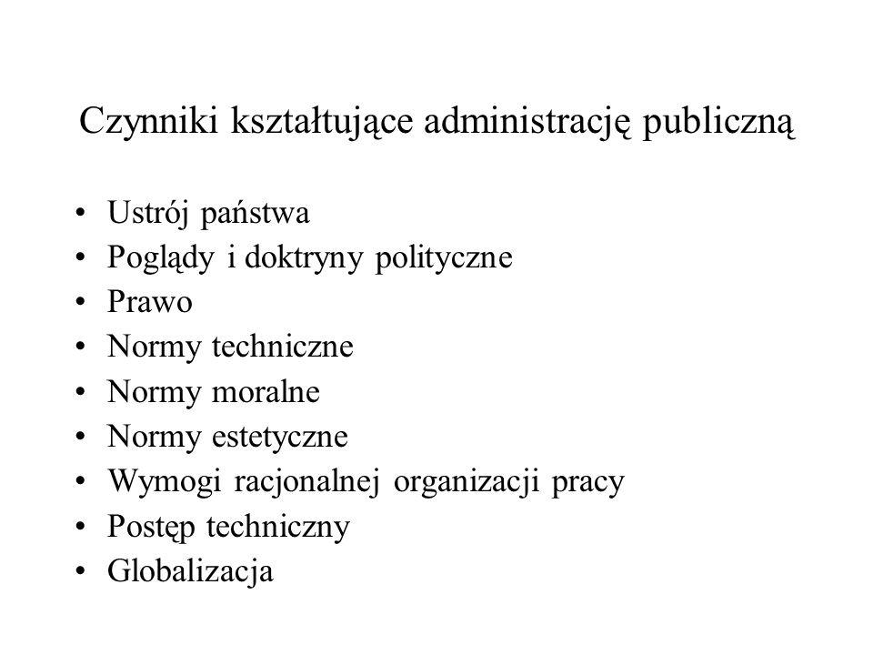 Czynniki kształtujące administrację publiczną