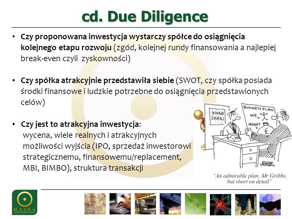cd. Due Diligence