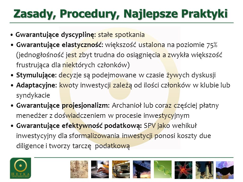 Zasady, Procedury, Najlepsze Praktyki
