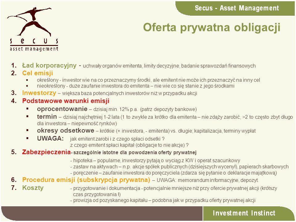 Oferta prywatna obligacji