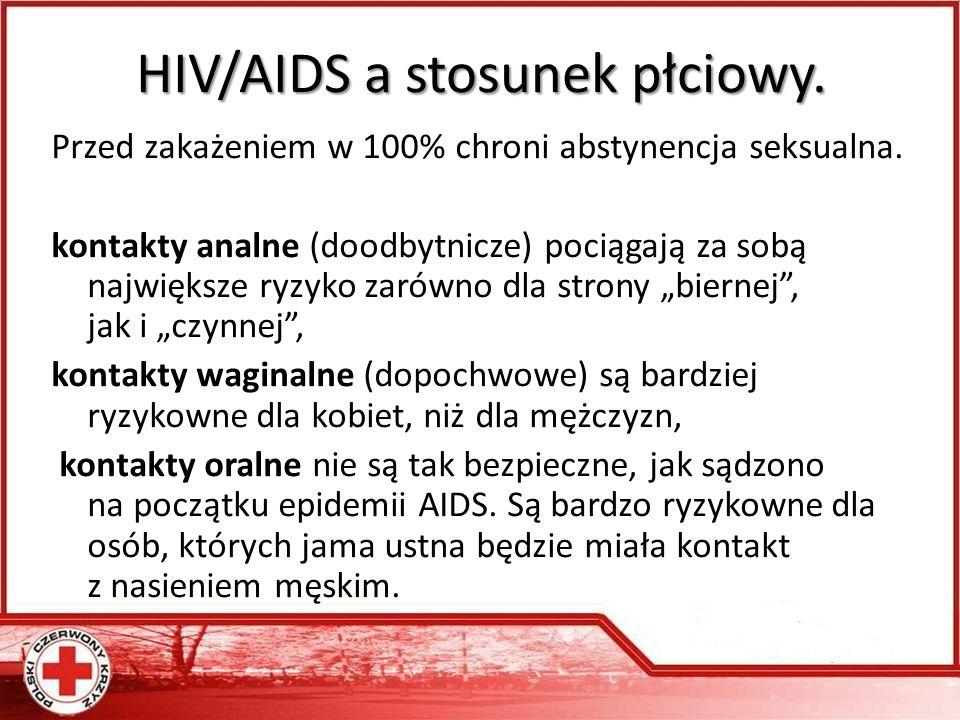 HIV/AIDS a stosunek płciowy.