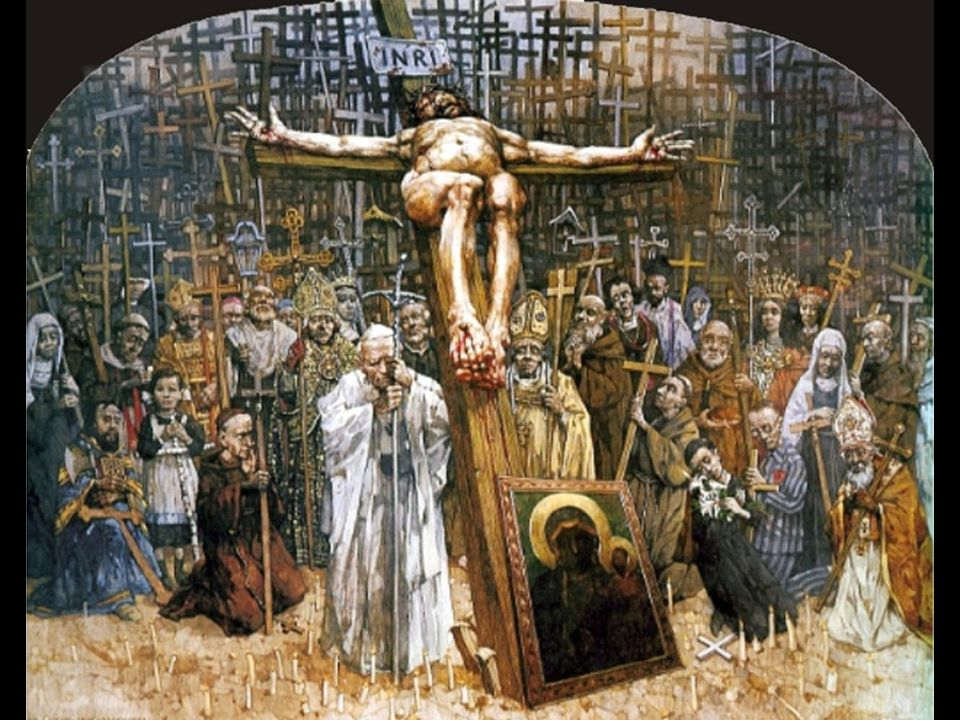 stacja XII Jezus na krzyżu umiera.