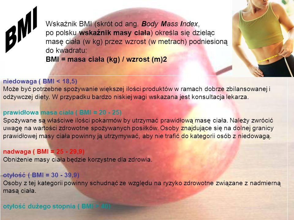 BMI Wskaźnik BMI (skrót od ang. Body Mass Index,