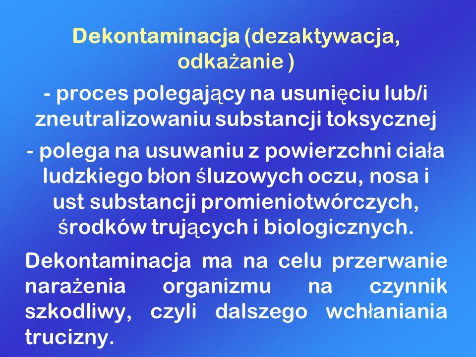 Dekontaminacja (dezaktywacja, odkażanie )