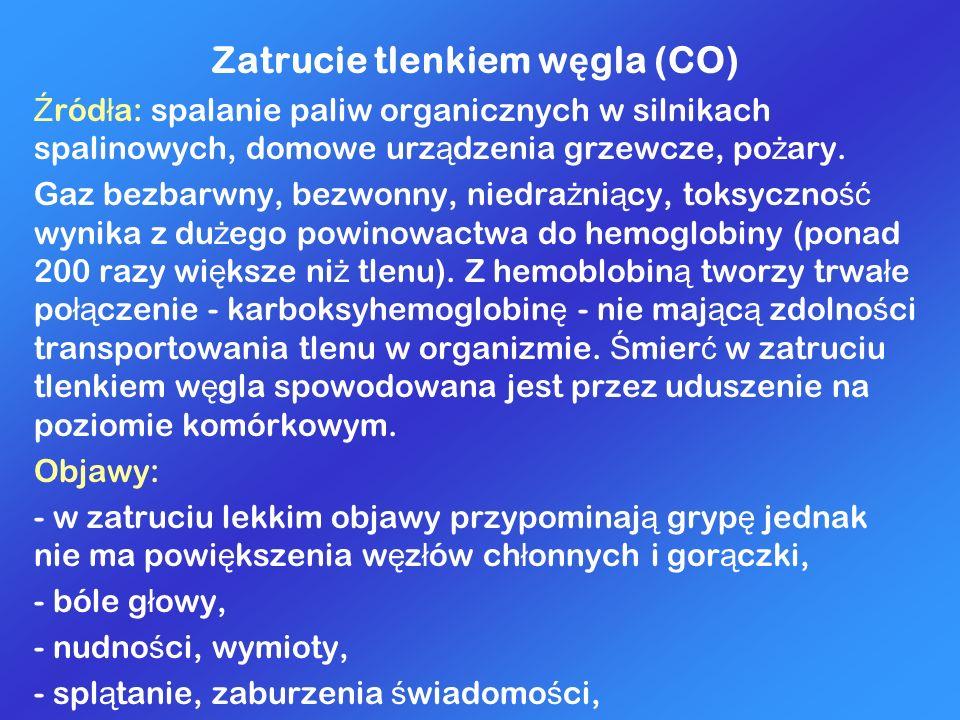 Zatrucie tlenkiem węgla (CO)